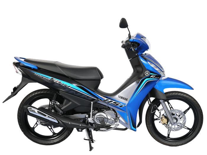 Yamaha FINN สีน้ำเงิน-ดำ-เทา l 2