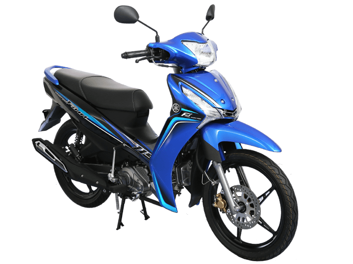 Yamaha FINN สีน้ำเงิน-ดำ-เทา l 3