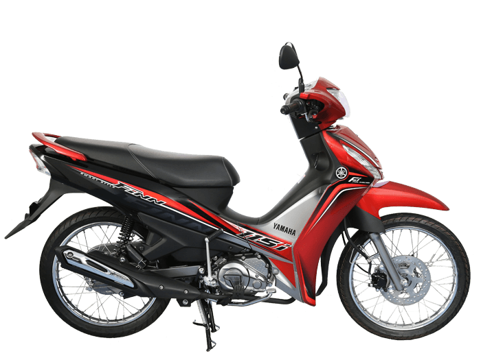 Yamaha FINN สีแดง-ดำ-เทา l 1