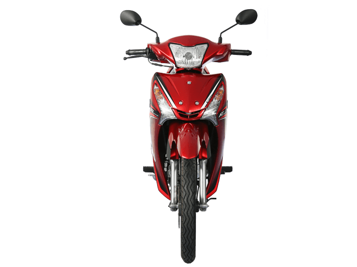 Yamaha FINN สีแดง-ดำ-เทา l 3