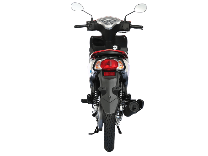 Yamaha FINN สีแดง-ดำ-เทา l 6