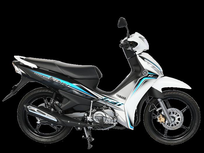 Yamaha FINN สีขาว-เทา-ดำ l 1