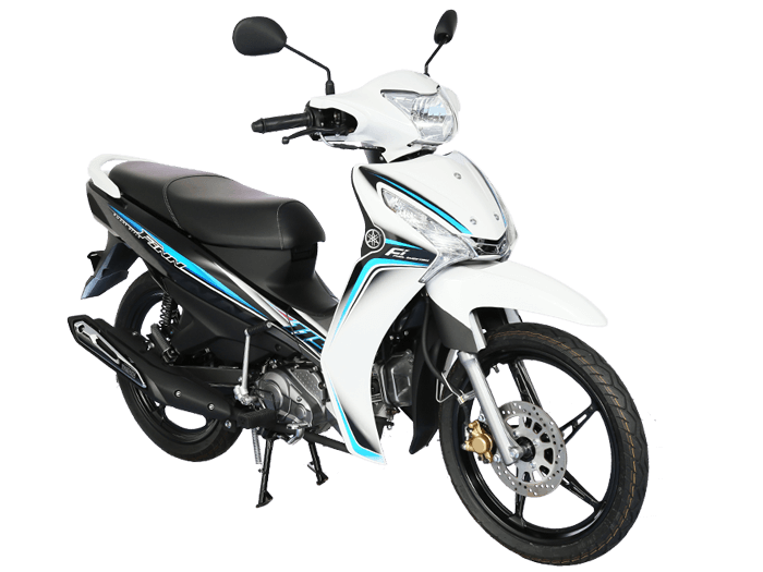 Yamaha FINN สีขาว-เทา-ดำ l 2