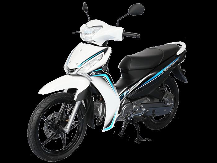 Yamaha FINN สีขาว-เทา-ดำ l 3